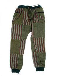 Pantalón hippie patchwork Mod Verde