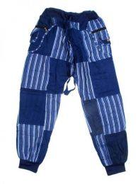 Pantalón hippie patchwork Mod Azul