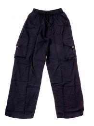 Pantalones Hippies y Alternativos - Pantalón hippie 100% PAEV17 - Modelo Negro