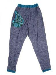 Pantalon de tela tipo chandal Mod Azul