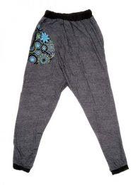 Pantalon de tela tipo chandal Mod Negro