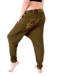 Pantalones Hippie Harem - Pantalon Hippie con bordado [PAEV18B] para comprar al por mayor o detalle  en la categoría de Ropa Hippie Alternativa para Mujer.