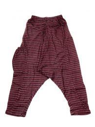 Pantalones Hippie Harem Boho - Pantalon de algodón PAEV19 - Modelo Marrón