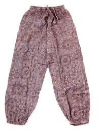 Pantalones Hippies - pantalón hippie, harem. PAEV20 - Modelo Marrón