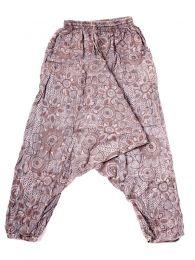 Pantalones Hippies - pantalón hippie, harem PAEV21 - Modelo Marrón
