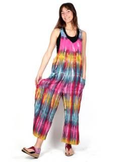 Salopette Tie Dye multicolore PAEV27 pour acheter en gros ou en détail dans la catégorie Vêtements Hippie Femme | Magasin alternatif ZAS.