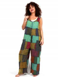 Hippie patchwork dungarees, to buy wholesale or detail in the Hippie Women's Clothing category | ZAS Alternative Store. [PAEV35]