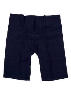 Pantalones Hippies Harem Yoga - Pantalon Thai fisherman corto PAFHP - Modelo Azul