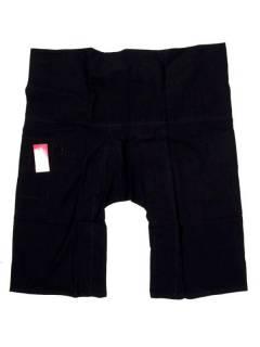 Pantalones Hippies Harem Yoga - Pantalon Thai fisherman corto PAFHP - Modelo Negro