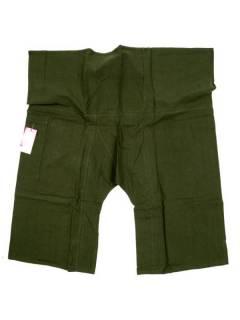 Pantalones Hippies Harem Yoga - Pantalon Thai fisherman corto PAFHP - Modelo Verde