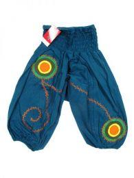 Pantalón de algodón Mod Azul