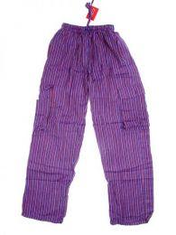 Pantalón 100% algodón Mod Morado