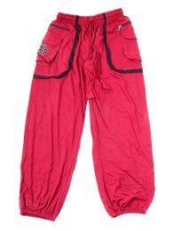 Pantalón Hippie con OM en bolsillo PAHC31 para comprar al por mayor o detalle  en la categoría de Artículos Artesanales.