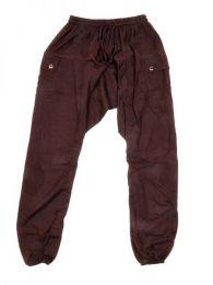 Pantalones Hippies Harem Boho - Pantalon de algodón PAHC33 - Modelo Marrón