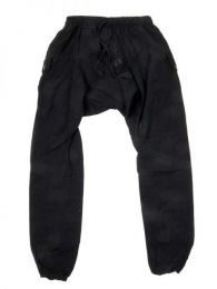 Pantalones Hippies Harem Boho - Pantalon de algodón PAHC33 - Modelo Negro