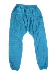 Pantalones Hippies Harem Boho - Pantalon de algodón PAHC33 - Modelo Azul