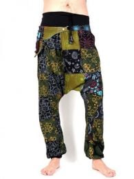 Patchwork hippie pants with fanny pack, to buy wholesale or detail in the category of Hippie and Alternative Clothing for Men | ZAS Hippie Store. [PAHC34]