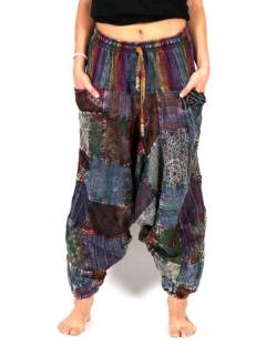 Pantaloni Aladin stone washed a righe PAHC45 da acquistare all'ingrosso o dettaglio nella categoria di abbigliamento hippie da donna | Negozio alternativo ZAS.