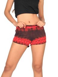 Pantalon corto Tie Dye ajustado PAJO09 para comprar al por mayor o detalle  en la categoría de Ropa Hippie Alternativa para Mujer.