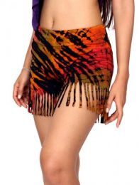 Rayon Shorts - Tie Dye fringed shorts [PAJO10] to buy wholesale or detail in the category of Hippie Clothing for Women.