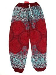 Pantalones Hippie Harem Boho - Pantalón unisex hippie PAPA02 - Modelo Rojo
