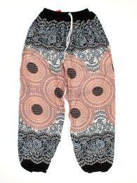 Pantalones Hippies Harem Boho - Pantalón unisex hippie PAPA02 - Modelo Negro