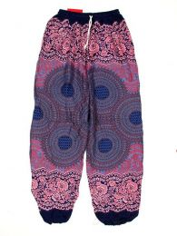 Pantalones Hippie Harem Boho - Pantalón unisex hippie PAPA02 - Modelo Morado