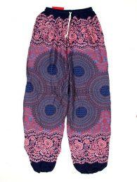 Pantalones Hippies Harem Yoga - Pantalón unisex hippie PAPA02 - Modelo Morado