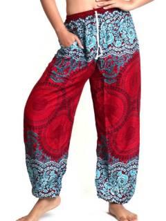 Pantalones Hippies Harem Yoga - Pantalón unisex hippie PAPA02.