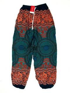 Pantalones Hippies Harem Yoga - Pantalón unisex hippie PAPA02 - Modelo Azul