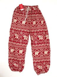 Pantalón unisex hippie Mod Rojo