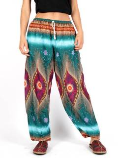Wide printed rayon pants Psicotrip [PAPA04]. Hippie Harem Pants to buy wholesale or detail in the category of Alternative Hippie Clothing for Women.