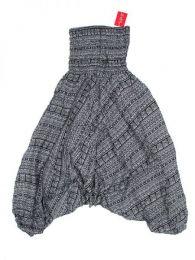 Pantalones Hippie Harem - Pantalón hippie ancho PAPA06 - Modelo Negro