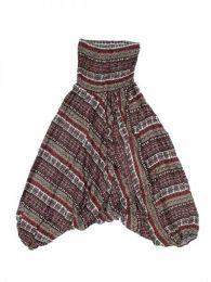 Pantalones Hippies Harem Boho - Pantalón hippie ancho PAPA06 - Modelo Marron