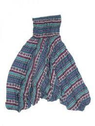 Pantalones Hippies Harem Boho - Pantalón hippie ancho PAPA06 - Modelo Azul