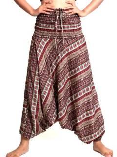 Pantalones Hippie Harem - Pantalon árabe rayón estampado etnico [PAPA06] para comprar al por mayor o detalle  en la categoría de Ropa Hippie Alternativa para Mujer.
