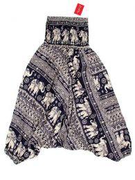 Pantalones Hippies Harem Boho - Pantalón hippie ancho PAPA10 - Modelo Azul