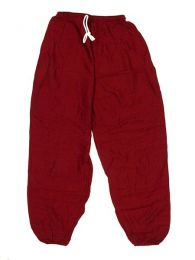 Pantalones Hippies Harem Yoga - Pantalón unisex hippie PAPA11 - Modelo Granate