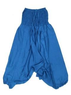 Pantalones Hippies Harem Yoga - Pantalón hippie ancho PAPA12 - Modelo Azul r