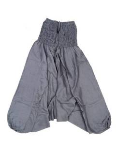 Pantalones Hippies Harem Yoga - Pantalón hippie ancho PAPA12 - Modelo Gris
