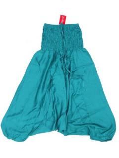 Pantalones Hippies Harem Yoga - Pantalón hippie ancho PAPA12 - Modelo Verde