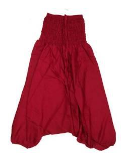 Pantalones Hippies Harem Yoga - Pantalón hippie ancho PAPA12 - Modelo Granate