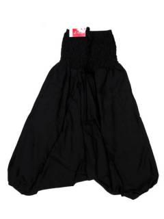 Pantalones Hippies Harem Yoga - Pantalón hippie ancho PAPA12 - Modelo Negro
