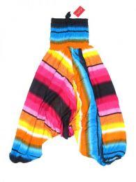 Pantalones Hippie Harem - Pantalón hippie ancho PAPA13 - Modelo Rosa
