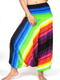 Pantalon Harem rayón Multicolor PAPA13 para comprar al por mayor o detalle  en la categoría de Ropa Hippie Alternativa para Mujer.