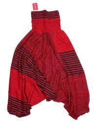 Pantalones Hippie Harem Boho - Pantalón hippie ancho PAPA14 - Modelo Rojo