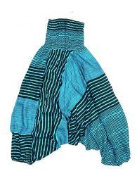 Pantalones Hippie Harem Boho - Pantalón hippie ancho PAPA14 - Modelo Azul 2