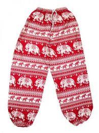 Pantalones Hippies Largos - Pantalón unisex hippie PAPA15 - Modelo Rojo