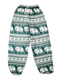 Pantalones Hippies Largos - Pantalón unisex hippie PAPA15 - Modelo Verde