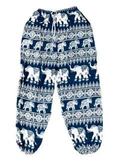Pantalones Hippies Harem Yoga - Pantalón unisex hippie PAPA16 - Modelo Azul